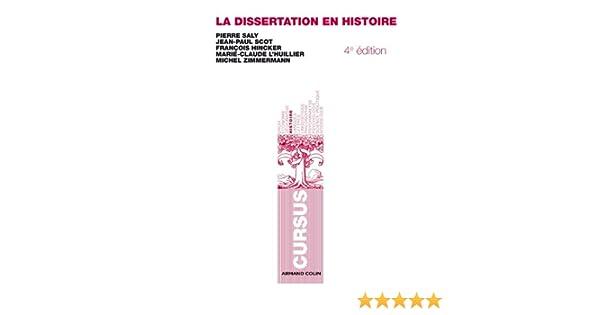 la dissertation en histoire pierre saly