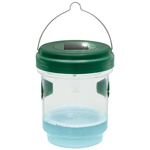 Gardigo 2in1 Mückenfalle und Wespenfalle mit Solar Licht | LED Leuchte lockt Mücken an | Einfach mit Lockstoff Füllen | Für Drinnen und Draußen | Deutscher Hersteller