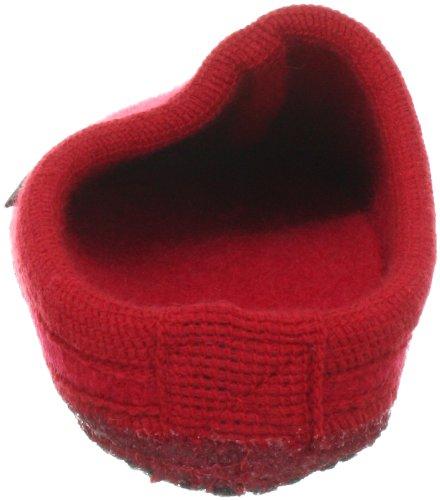 Haflinger Alaska 611001, Chaussons mixte adulte Rouge-TR-F4-1