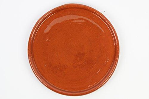 Plato de barro para chuletón, hecho a mano tradicionalmente. Medidas 33 cm diámetro. 2,5cm altura. De muy buena calidad. 2,2 kg Totalmente artesanal