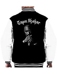 Tupac Shakur Shadow Portrait Men's Varsity Jacket