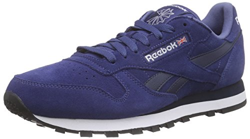 Reebok Classic Leather Suede, Men's Running Shoes, Blue (Midnight Blue/Collegiate Navy/White/Black), 9.5 UK (44 EU)