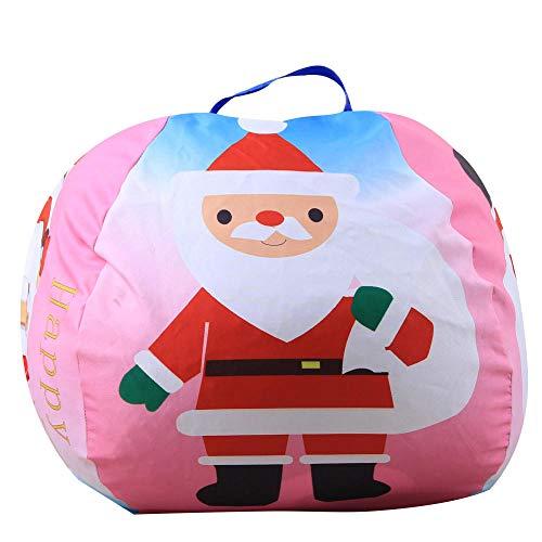 NEWGA Toy Storage Sitzsack, Kinderspielzeug Aufbewahrungstasche, Plüsch, Canvas Stofftier Storage Sitzsack @ LY-006-Santa Claus