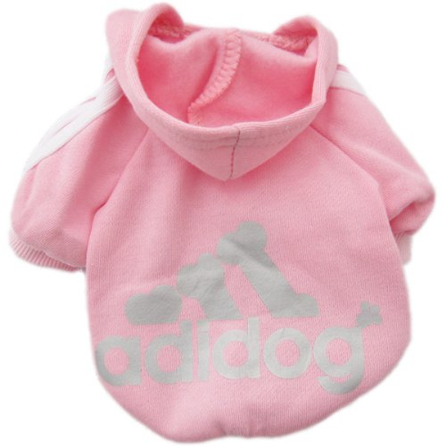 Zehui süsse Haustier Hund Katze Pullover Hündchen T-Shirt Warme Pullover Mantel Kleidung Apparel Pink XS