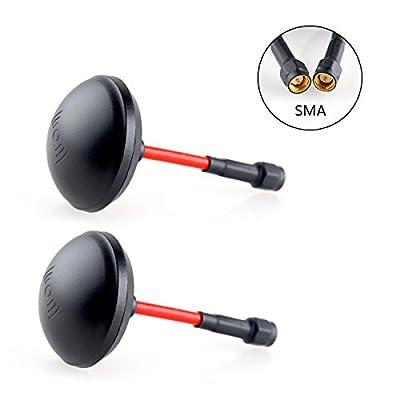 Crazepony-UK 2pcs 5.8GHz Mushroom Antenna Circular Polarized LHCP SMA for FPV Racing Drone like QAV250 etc