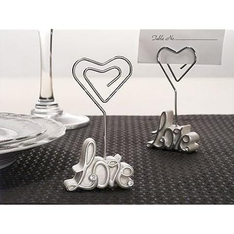 6 Love Nome tabella / appunto nota nozze luogo titolari di carte da regalo favori - (2 Pack) - Carta Regalo Della Santa Titolare