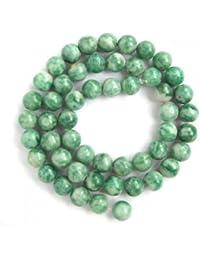8mm Verde Jade De Piedras Preciosas Perlas Sueltas Capitulo 15 Pulgadas
