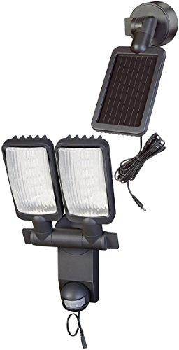 Brennenstuhl Solar LED-Leuchte Duo Premium SOL LV0805 P1 IP44 mit Infrarot-Bewegungsmelder 8xLED Anthrazit, 1179390