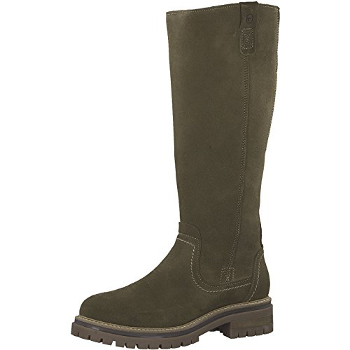 Tamaris Damen Stiefel 26617-21,Frauen Boots,Langschaftstiefel,gefüttert,Reißverschluss,Blockabsatz 3.5cm
