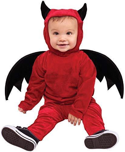 Kostüm Lil Teufel - Baby Mädchen Jungen Lil Teufel Dämon Wings Hörner Süß Halloween Kostüm Kleid Outfit 12-24 Monate