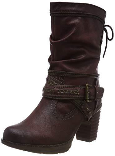 Mustang Stiefelette, Botines para Mujer, Rojo (Bordeaux 55), 36 EU