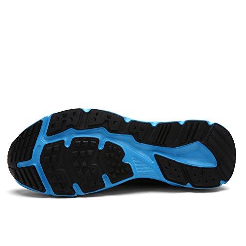 Gomnear Uomo e Da donna Scarpe traspiranti leggero Maglia All'aperto Estate Escursionismo Canottaggio Scarpa Acqua Nero blu