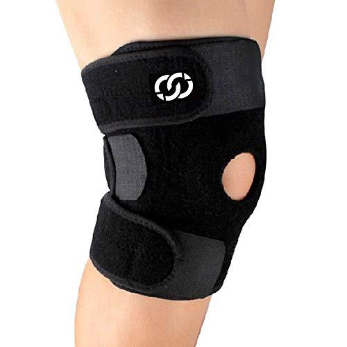 CompressionGear Kniestütze - Patella-Kniebandage mit Seitenstabilisator gegen Gelenkschmerzen, Arthrose - Meniskus-Bandage für Männer, Frauen - Neopren-Knieschützer mit verstellbarem Band