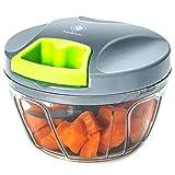 Kalokelvin Mini Tritatutto Manuale,Miscelatore,Frullatore per Tagliare Frutte/Verdure/Cipolle/Salsa d'Agio/Insalata/Insalata di Cavolo/Polpettone/Salsa di Carne/Cibo per Neonati (400ML)