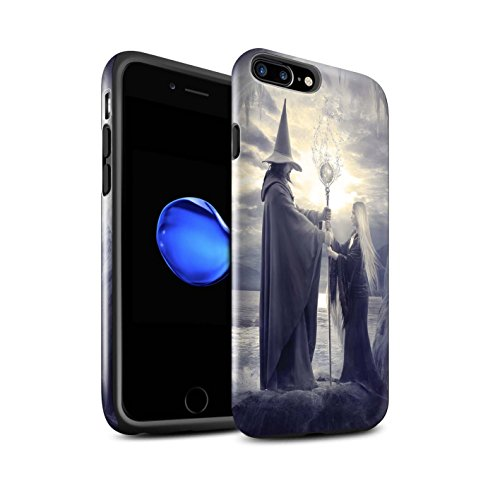 Officiel Elena Dudina Coque / Brillant Robuste Antichoc Etui pour Apple iPhone 7 Plus / Orbe/Sorcellerie Design / Magie Noire Collection Maestro/Sorcier