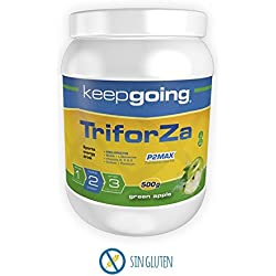 Keepgoing TriforZa Energy · Bebida energética · Bote de 500g. Green Apple.
