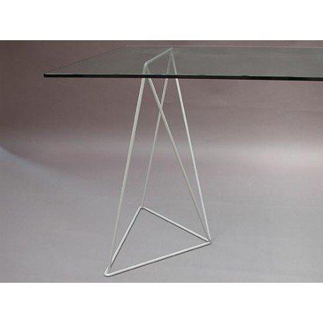 Metallbock für Tischplatten Studie Tan mca887001 Aluminiumfarben