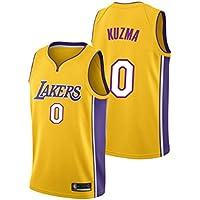 Maillot de Baloncesto Kyle Kuzma, Los Angeles Lakers # 0 Fanático del Bordado para Hombres Ropa de competición de Entrenamiento Buena transpirabilidad Limpieza repetible amig