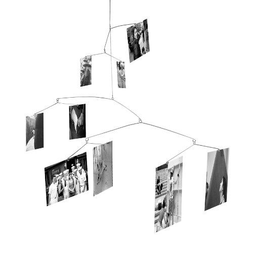 Kikkerland Filo Portafoto da Sospensione per 9 Foto con Mollette, Molticolore, Inox