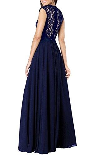 Hamaliel - Robe - Taille empire - Sans Manche - Femme Bleu