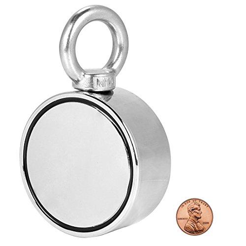 Doppelseitiger Runder Super Starker Neodym-Magnet mit Eyebolt,Vertikale Spannung 400 Kg,Durchmesser 75mm