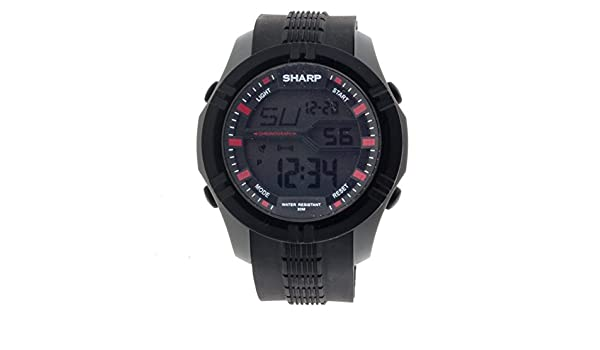 sharp watches prices. buy sharp men\u0027s automatic plastic and polyurethane casual watch, color:black (model: shp020) online at low prices in india - amazon.in watches