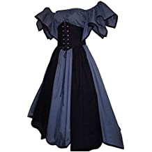 4d2a9d897 Mujer Disfraz de Cosplay Vestido Medieval Ropa Manga Corta Renacentista  Vendimia
