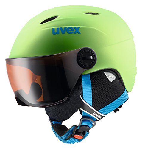 Uvex Kinder junior visor pro Skihelm Applegreen Mat 54-56 cm