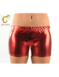 Las niñas brillante Hot pantalones, color rojo, tamaño 5-6