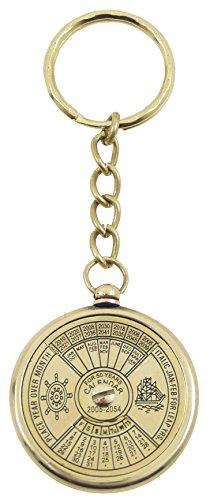gnrique-791schlsselanhnger-ewiger-kalender-fr-50jahre-messing-glnzend-10x35x35cm