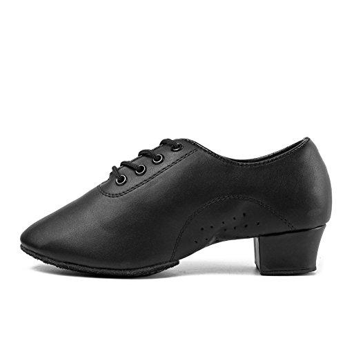 Hipposeus uomo ballroom scarpe da ballo /sala da ballo scarpe/scarpe da ballo latino standard di cuoio,modello-ittl-boy, nero, 37 eu / 23.5 cm