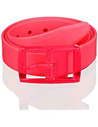 Taffstyle® Unisex Silikon Neon Gürtel kürzbar One Size für Damen / Herren