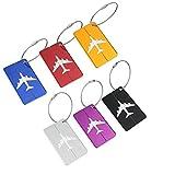 M.Q.L. viaggiare bagagli bagagli borsa metalli tag etichette valigia id alluminio identificare privato tag etichette 6 colori diversi (6 different colors)