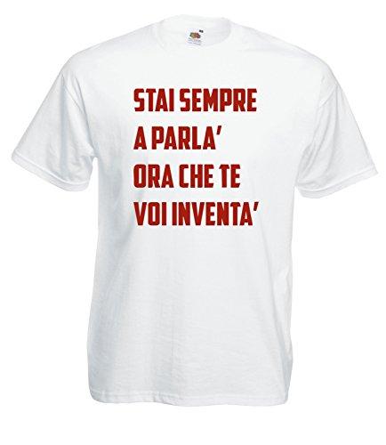 Settantallora - Camiseta de Tirantes - Hombre Blanco Blanco XX-Large