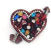 1pcs flecha en el corazón de los sellos para los granos de la perla del Rhinestone Aplicaciones Parche Ropa