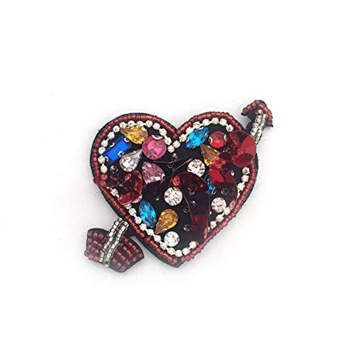 1pcs flecha corazón sellos granos perla Rhinestone