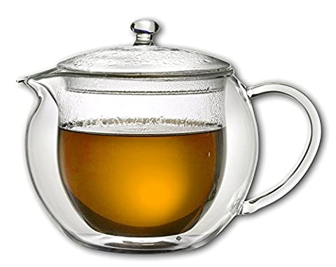 Karaffe Teekanne Thermoskanne Teekrug 1 Liter 1000ml doppelwandig Heiß- und Kaltgetränke - für Tee, Kaffee,