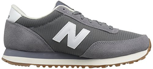 New Balance Mens 501 Running Classics Suede Trainers Grey/White