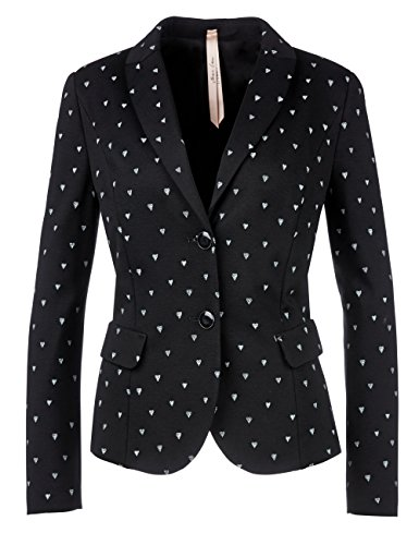 Marc Cain Additions Damen Blazer GA 34.10 J56 Schwarz (Black And White 910)