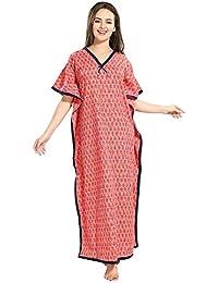 PIU Kaftan for Women Girls Cotton Soft Rayon Cotton Printed Multicolor  fe9e36f6d