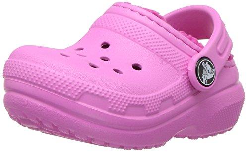 Crocs classic lined clog, zoccoli unisex-bambini, rosa (party/candy pink), 20/21 eu