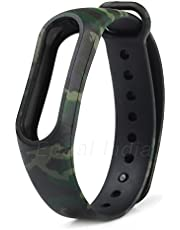 Epaal Camouflage Pattern Watch Strap for Xiaomi Mi Band HRX and Mi Band 2 (Army Green)