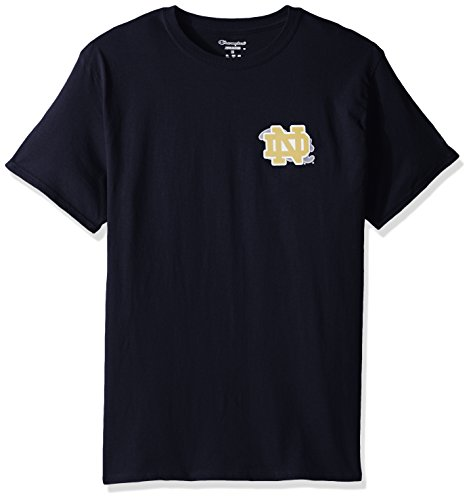 NCAA Notre Dame Fighting Irish Herren CHAMP Short Sleeve T-Shirt 5 Navy, herren, NCAA Men's Champ Short Sleeve T-Shirt 5, Team Color-3, Medium