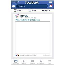 Cornice per selfie personalizzabile, per Facebook, social media, formato A1