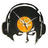 Disc'O'Clock OROLOGIO IN VINILE DA PARETE LP 33 GIRI SILENZIOSO - DJANE@WORK - IDEA REGALO PER DJ, MUSICA ELETTRONICA