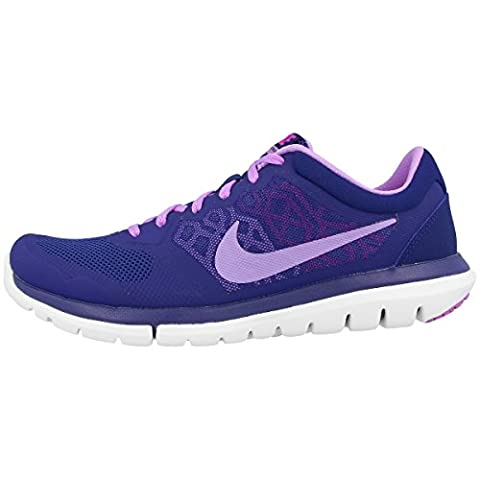 Nike Laufschuhe Flex 2015 Run Damen deep royal blue-fuchsia glow-fuchsia