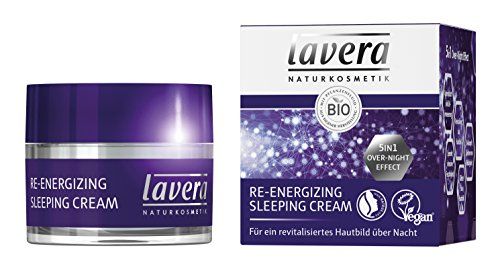 lavera Re-Energizing Sleeping Cream, Bio Pflanzenwirkstoffe, Natural und innovative, Gesichtspflege 1er Pack (1 x 50 ml)