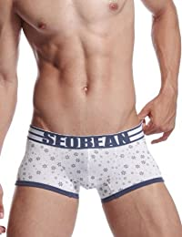 SEOBEAN Mens Low-Rise Sexy Trunk Boxer Brief Underwear Snowflake