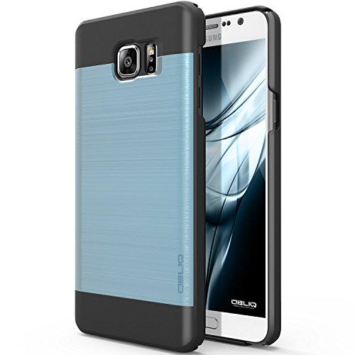 Galaxy Note 5Fall, Obliq [Slim Meta] [Metallic Blau/Schwarz]-dünn Slim Fit Bumper Armor Scratch Resist Metallic-Finish Dual Layered Heavy Duty Hybrid Hohe Qualität Hard Schutz Case (für Samsung Galaxy Note 5)