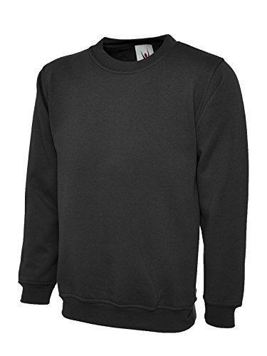 UC203 Uneek 300 gsm Klassische Sweatshirt - Schwarz, Unisex, XXXXXXL